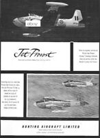 HUNTING AIRCRAFT LIMITED JET PROVOST ROYAL AIR FORCE & CEYLON AIR FORCE 1960 AD