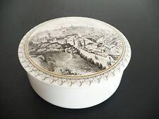 Porcelain Villeroy & Boch Round White Keepsake Box w Lid. Luxembourg