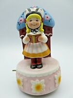 Vintage Walt Disney World IT'S A SMALL WORLD Animated Music Box Girl Singing