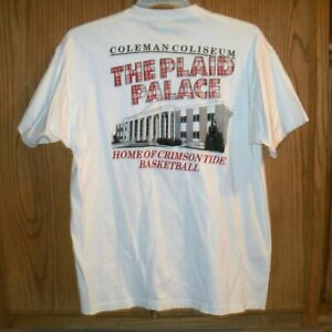 Vintage 80s Alabama Basketball T-Shirt Coleman Coliseum Plaid Palace