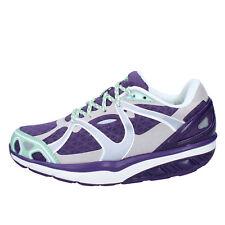 scarpe donna MBT 36 EU sneakers viola tessuto camoscio dynamic BY688-36