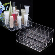 24 Lipstick Nail Polish Makeup Case Holder Rack Stand Cosmetic Organizer Display
