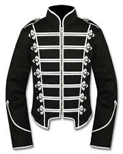 Banned Military Drummer Jacket Black Parade Goth Punk Adam Ant Style S to 3XL