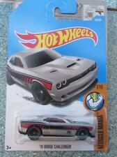 Hot Wheels 2017 #048/365 2015 DODGE CHALLENGER argent Muscle Mania Long Carte