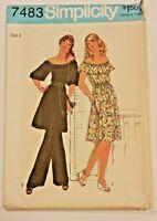 Simplicity Pattern 7483 Misses Ladies Dress Tunic Pants Size 8 UNCUT Vintage VTG