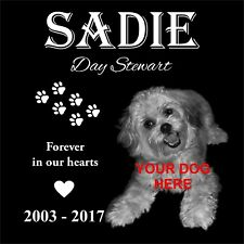 Personalized Pet Headstone, tombstone Laser Engraved on the Grave Marker Granite