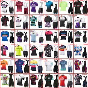 2021 Women Cycling Jersey Short Sleeve Bib Shorts Sets Summer Team Bike Outfits