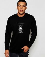 Mens Obey Black Sweatshirt Size Small S BNWT
