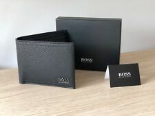 Hugo BOSS Men's Black Leather Wallet 'Manprio' Bi-fold, Style 50280445