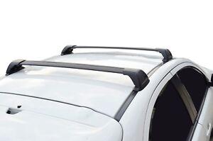 Aerodynamic Roof Rack Cross Bar for Hyundai i30 FD 07-11 Hatch Black Flush End
