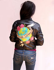 Hand Painted Waxed Denim Jacket - World Changer