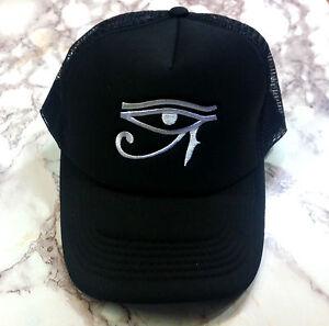New Eye Of Horus Embroidery Black Mesh Trucker SNAPBACK Hat Cap