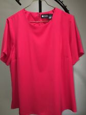 Maggie Barnes Red Short Sleeve Lightweight Dressy Top Blouse Women's X