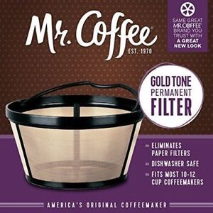 Mr. Coffee Basket-Style Gold Tone Permanent Filter Coffeemakers Coffee Machine