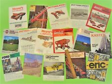 Lot of 16 Misc. Farm Equipment Implement Brochures Planters Harrows Plows Etc