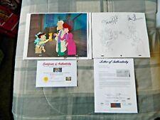 Back To The Future Animation Original Cel Michael J. Fox & Lea Thompson Signed