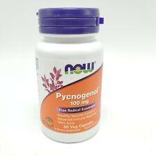 NOW Pycnogenol 100 mg 60 Veg Capsules Sealed Expires 02/2023