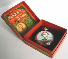 Of Pocket Watch & Sales Box *Working* Hebdomas Swiss 8 Jours 8 Jewel Ancre S16