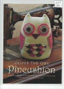 Applique Sewing wool/felt Craft Oliver The Owl Pincushion Pattern,Magazine Pages