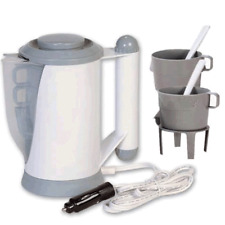 12V Electric Kettle Water Car Van Lorry Travel Portable Pot Camping Jug 700ml UK