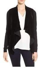 Michael Kors Black Velvet Front Cardigan Sweater L