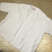A-401 Isaac Mizrahi Live! 3/4-Sleeve Mix Stitch Kimono Cardigan WHITE sz 2x