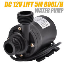 Mini DC12V 5M 800L/H Portable Brushless Motor Ultra-quiet Submersible Water Pump