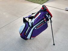 Titleist Dual Strap Golf Stand Bag Purple/Red/White Free Shipping w Raincover