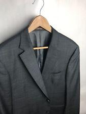 Peter Millar Gray Purple Window Pane Sport Coat Blazer Sz 44 R