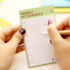 Weekly Daily Schedule Memo Pads N Times Sticky Note School Office Bookmark