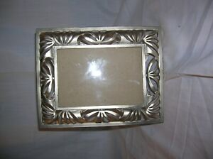 Vintage Burns of Boston Pewter Lacework Lattice Frame for 3x5 picture