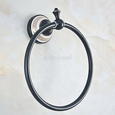 Oil Rubbed Bronze Towel Ring Holder Hanger Bathroom Hardware Accessory aba825