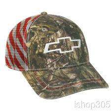 Chevrolet Realtree Mesh Back Patriotic Hat Baseball Cap US Flag Hat Trucker Hat