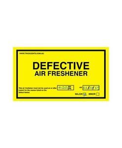 Defect Sticker Car Air Freshener Mild Scent Strength