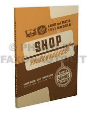 1951 Kaiser-Frazer Negozio Manuale Speciale Deluxe Manhattan Riparazione