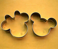 Mickey minnie mouse fondant pastry biscuit baking stainless cookie cutter set
