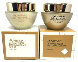 AVON Anew Ultimate Day Firming +Night Restoring Cream with Protinol SET!1.7oz ea