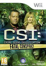 CSI: Fatal Conspiracy Nintendo Wii PAL Brand New