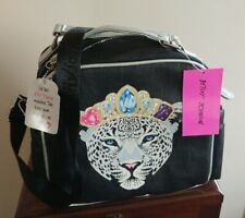 Betsey Johnson Leopard w/Crown Insulated Lunch Tote Bag Multi NWT-Retail $58