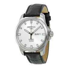 Certina DS First Day-Date Automatic Silver Dial Stainless Steel Mens Watch