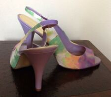 New NINE WEST Size: 10.5 М Multicolor Fabric Upper Shoes. Туфли Женские