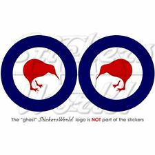 """New Zealand AirForce Stickers RNZAF Roundel 75mm/3"""" x2"""