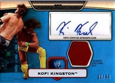 WWE Kofi Kingston Topps Platinum 2010 Autographed Relic BLUE Card 22 of 99