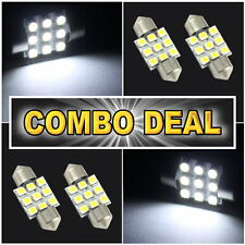 "4x White Led Lights For Dome + Map 1.25"" 31mm #9"