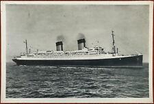 S. S. Ile-De-France Transatlantic French Line Ship Postcard