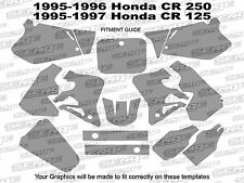 1995 1996 CR 250 GRAPHICS KIT CR250 CR250R R 250R DECO DECALS STICKERS PINK