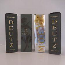 4 emballages packaging publicité papier Champagne DEUTZ MOËT & CHANDON France