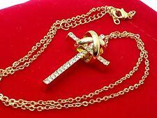 Collana Ciondolo Croce Crocifisso Oro Donna Zirconi Elegante I Gioielli di Vicky