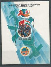 Russie 1984 BL 171 ** Intercosmos Coopération soviéto-indienne Cosmonautes