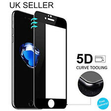 IPHONE 7 curved edge screen protector protection film tempered glass Black UK